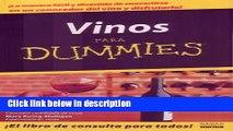 Ebook Vino Para Dummies/wine For Dummies (Spanish Edition) Full Online