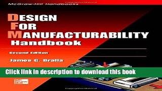 [Popular] Design for Manufacturability Handbook Hardcover Online