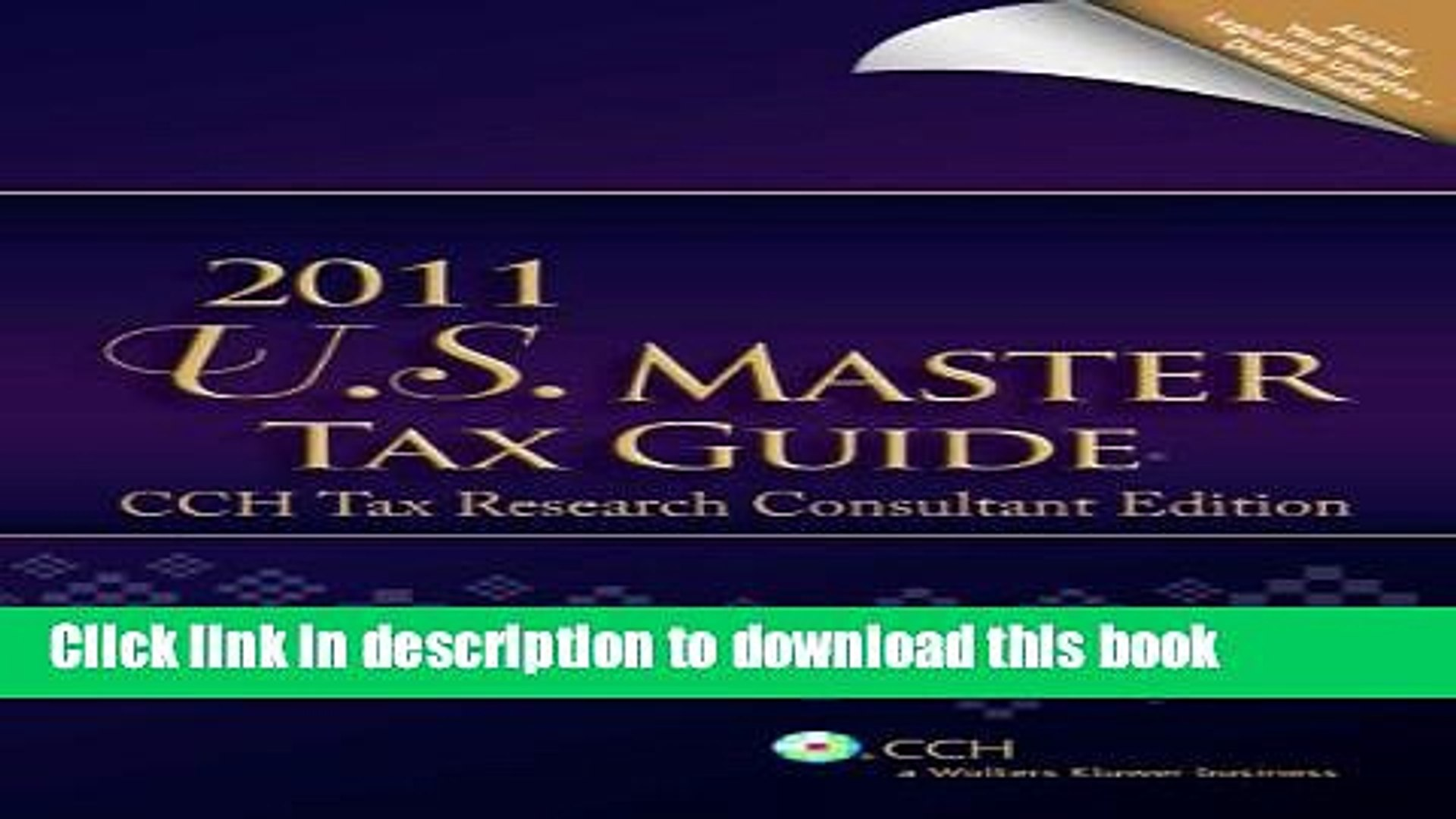 Title Pdf U S Master Tax Guide Cch Tax Research Consultant Edition E Book Free Video Dailymotion