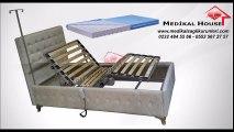 2 Motorlu Elektrikli Ev Tipi Hasta Karyolası-Yatağı