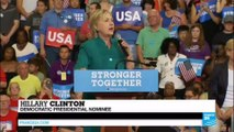 """Race for the White House: Clinton says Trump has """"crossed the line"""" with gun comment"""