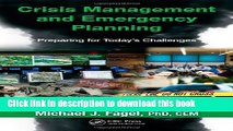 [Popular Books] Crisis Management and Emergency Planning: Preparing for Today s Challenges Free