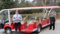 Xe điện chở khách 15 chỗ màu đỏ, xe điện chở khách du lịch tại Hải Phòng