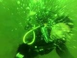 Une femme est prise d'une crise de panique en plongée sous-marine