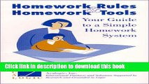 [Read PDF] Homework Rules and Homework Tools Your Guide to  a Simple Homework System Download Online