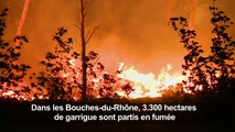"""Le feu au nord de Marseille """"fixé"""" dans de nombreuses parties"""