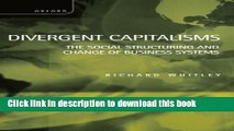 [Popular] Divergent Capitalisms: The Social Structuring and Change of Business Systems Kindle Free