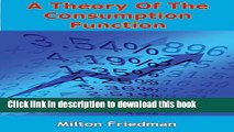 [Popular] A Theory Of The Consumption Function Hardcover Online