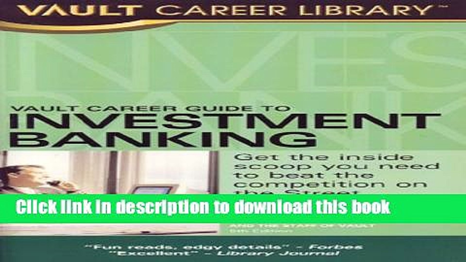 [Popular] Vault Career Guide to Investment Banking Kindle Online