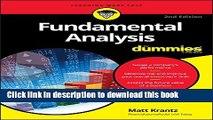 [Popular] Fundamental Analysis For Dummies Hardcover Free