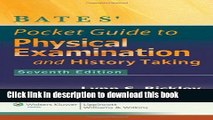 [Popular Books] Bates  Pocket Guide to Physical Examination and History Taking Free Online