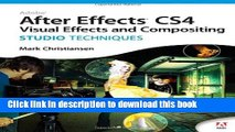 [Download] Adobe After Effects CS4 Visual Effects and Compositing Studio Techniques Paperback Free
