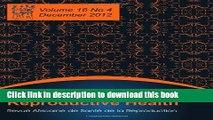 Ebook African Journal of Reproductive Health: Vol.16, No.4, Dec. 2012 Full Online