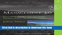 [Popular] Management 3.0: Leading Agile Developers, Developing Agile Leaders Hardcover Online