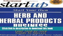 [Read PDF] Start Your Own Herb and Herbal Products Business (Start Your Own Herb   Herbal Products
