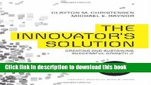 [Popular] The Innovator s Solution: Creating and Sustaining Successful Growth Kindle Online