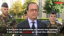 """Incendies près de Marseille: François Hollande promet de """"trouver les auteurs"""""""