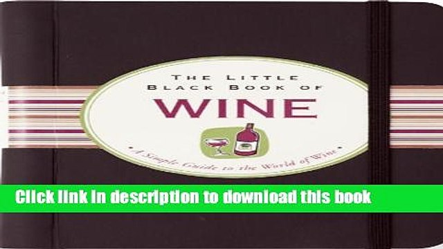 [Popular] The Little Black Book of Wine Hardcover OnlineCollection