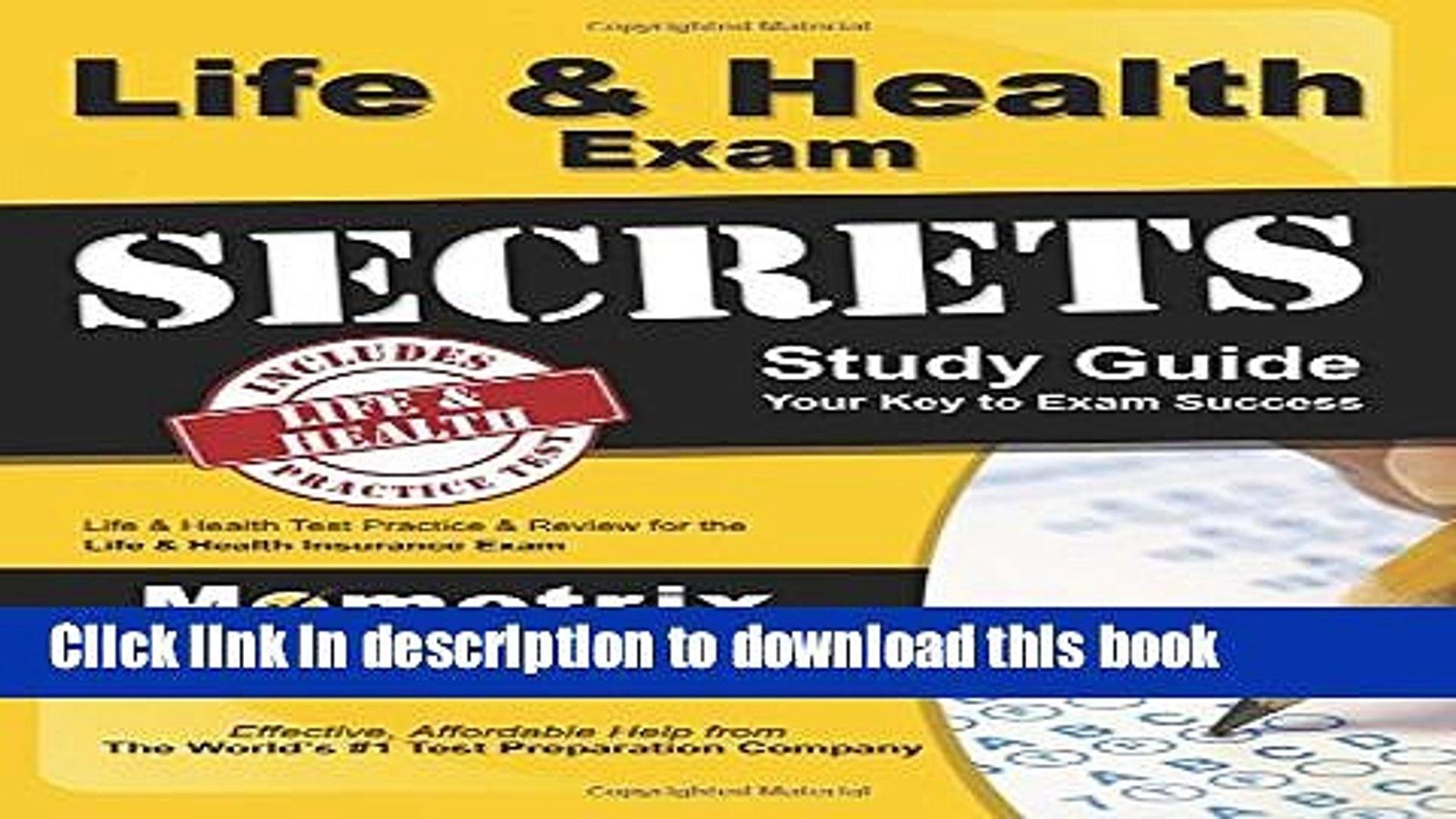 [Popular] Books Life   Health Exam Secrets Study Guide: Life   Health Test Review for the Life