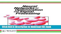 [Popular] Neural Networks for Optimization and Signal Processing Hardcover Collection