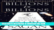 [Popular] Billions   Billions: Thoughts on Life and Death at the Brink of the Millennium Paperback