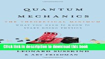 [Popular] Quantum Mechanics: The Theoretical Minimum Hardcover Free