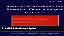 Books Statistical Methods for Survival Data Analysis Free Online