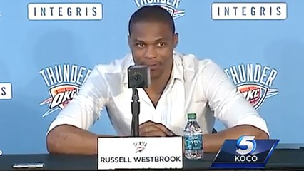 Russell Westbrook Takes Dig At Kevin Durant During OKC Thunder Press Conference