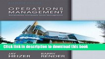 [Download] Operations Management Plus NEW MyOmLab with Pearson eText -- Access Card Package (11th