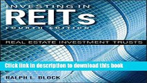 [Popular] Investing in REITs: Real Estate Investment Trusts (Bloomberg) Hardcover Free