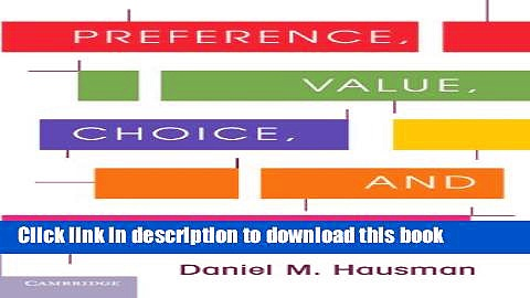 [Popular] Preference, Value, Choice, and Welfare Paperback Online