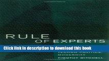 [Popular] Rule of Experts: Egypt, Techno-Politics, Modernity Paperback Online