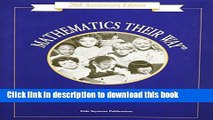 [Download] Mathematics Their Way: An Activity-Centered Mathematics Program for Early Childhood