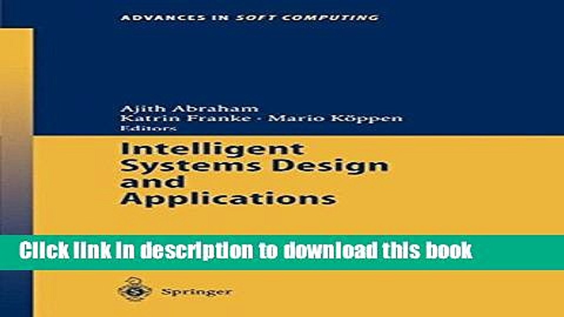 Books Intelligent Systems Design And Applications Free Online Video Dailymotion