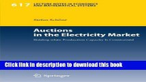 Ebook Auctions in the Electricity Market: Bidding when Production Capacity Is Constrained Full