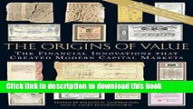 [Popular] The Origins of Value: The Financial Innovations that Created Modern Capital Markets