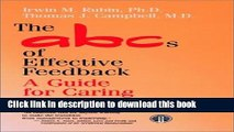 Ebook The ABCs of Effective Feedback: A Guide for Caring Professionals Free Online