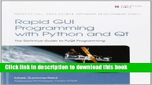 PDF Download] Rapid GUI Programming with Python and Qt