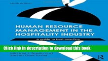 PDF] Human Resource Management in the Hospitality Industry