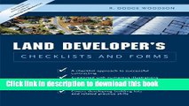 [Popular] Residential Land Developer s Checklists and Forms Paperback Collection