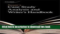 [Popular] Power s Case Study Analysis and Writer s Handbook Paperback Free