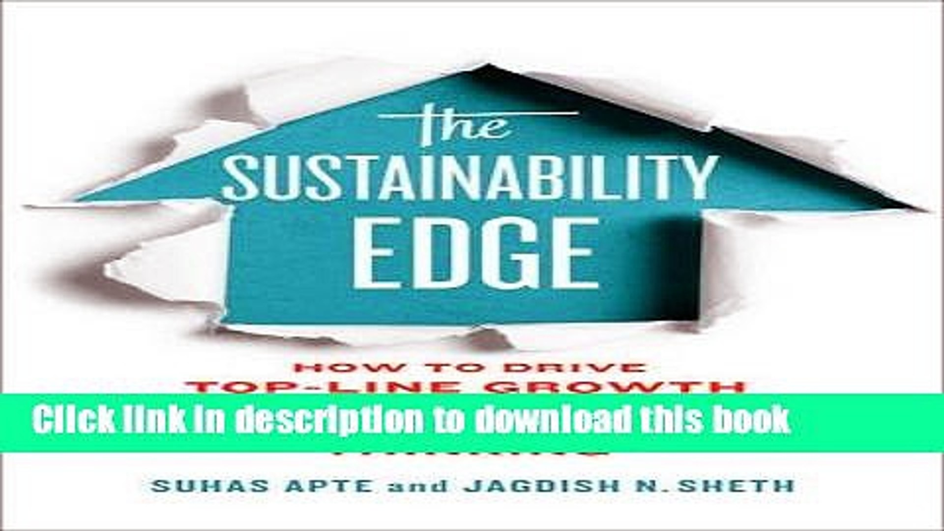 [Popular] The Sustainability Edge: How to Drive Top-Line Growth with Triple-Bottom-Line Thinking