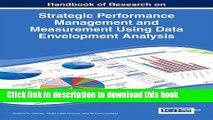 [Download] Strategic Performance Management and Measurement Using Data Envelopment Analysis