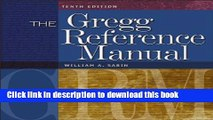 [Popular] The Gregg Reference Manual: A Manual of Style, Grammar, Usage, and Formatting Paperback