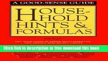 [Download] Household Hints   Formulas Kindle Online