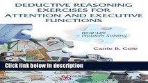 Download Deductive Reasoning Exercises for Attention and Executive Functions: Real-Life Problem