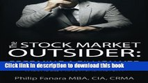 [Download] The Stock Market Outsider: Becoming a Billionaire: Valuable, Practical Insight Kindle