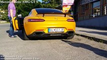 Mercedes-Benz AMG GT S vs Mercedes-Benz SLS AMG - Acceleration 0-300km-h & Exhaust Sound