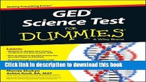 [Popular Books] GED Science For Dummies Free Online
