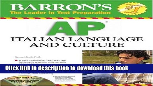 [Popular Books] Barron s AP Italian Language and Culture: with Audio CDs Download Online
